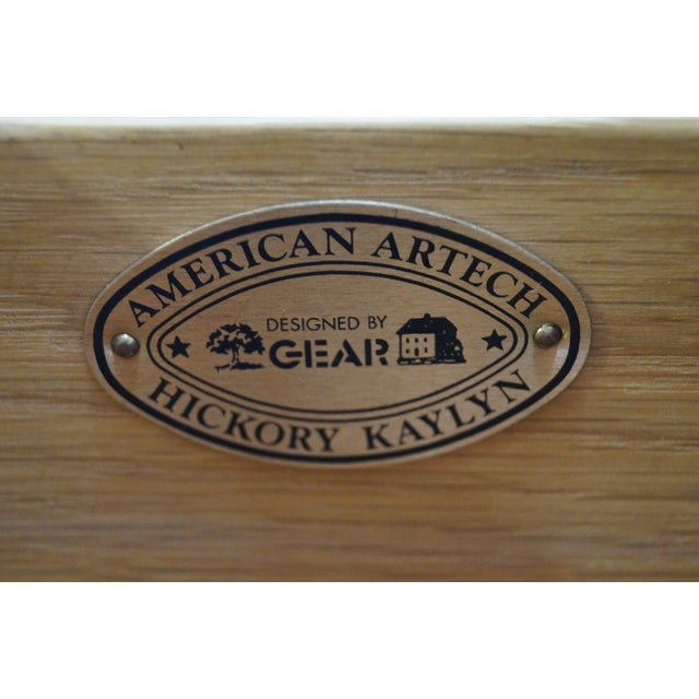 American Artech by Hickory Kaylyn Low Birdseye Maple Chest For Sale In Philadelphia - Image 6 of 10