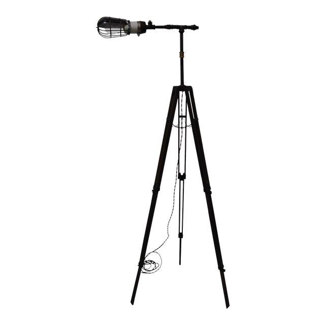 Industrial Tripod Floor Lamp For Sale