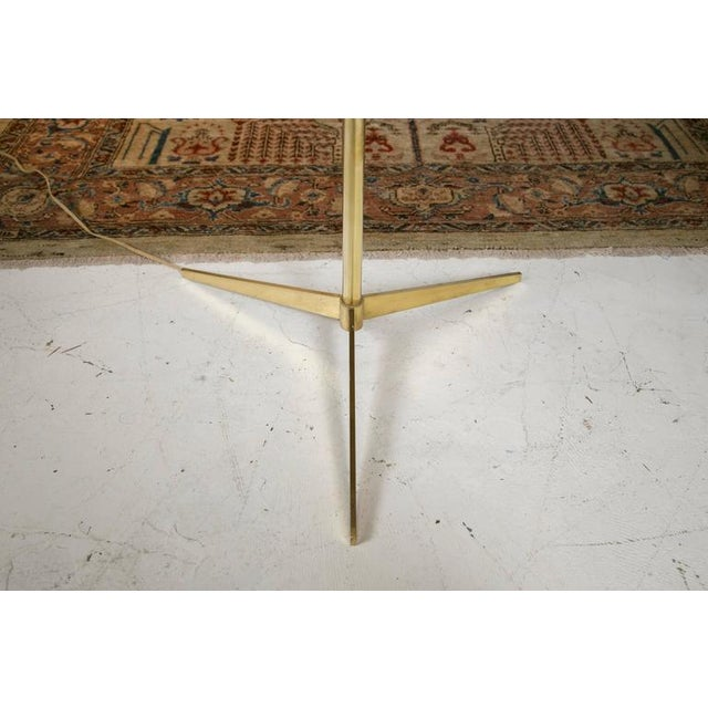 Midcentury Brass and Formica Table Floor Lamp - Image 5 of 6