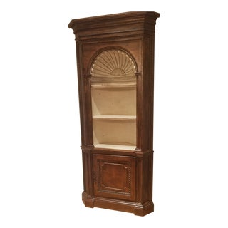 20th Century Traditional Habersham Preston Corner Cabinet For Sale