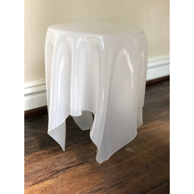 Acrylic Handkerchief Table For Sale - Image 11 of 13