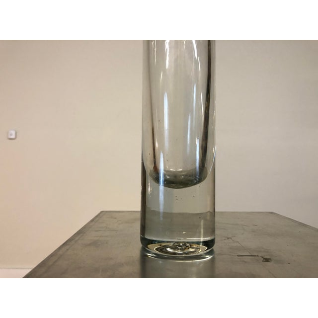 Mid 20th Century Mid 20th Century Blenko Hand Blown Glass Vase For Sale - Image 5 of 8