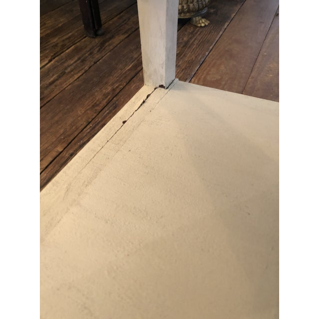 Chinese Whitewashed Painted Rectangular Low Side Table For Sale In Philadelphia - Image 6 of 13
