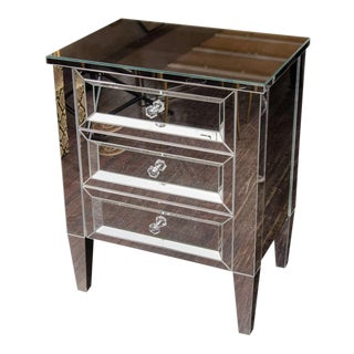 Custom Mirrored End Table For Sale