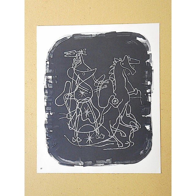 Vintage Lithograph Equine by Georges Braque - Image 2 of 3