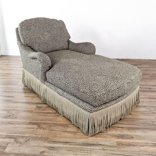 Contemporary Jessica Charles Chaise Lounge For Sale - Image 3 of 10