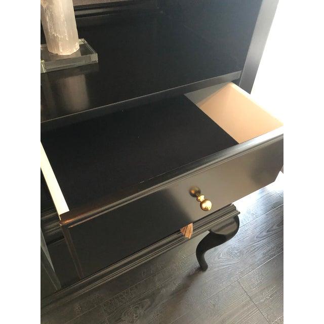 Cynthia Rowley Black Twin Peak Display Cabinet For Sale - Image 9 of 11