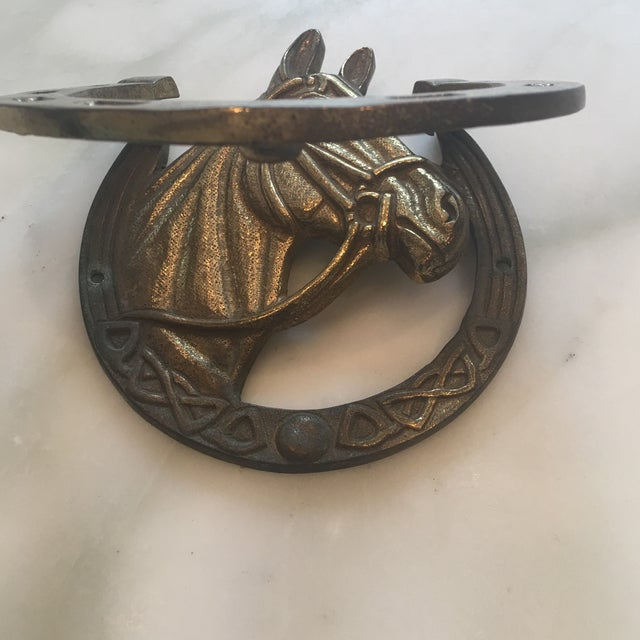 1960s Brass Horseshoe Door Knocker For Sale - Image 5 of 12