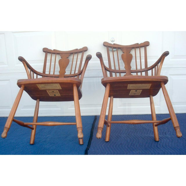 L. & J.G. Stickley, Inc. Stickley Windsor Back Dining Chairs - Set of 6 For Sale - Image 4 of 11
