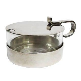 Christofle Silver and Crystal Sugar Bowl
