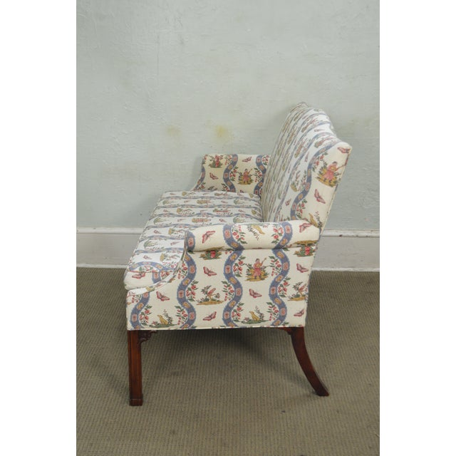 Custom Quality Chippendale Style Loveseat - Image 5 of 10