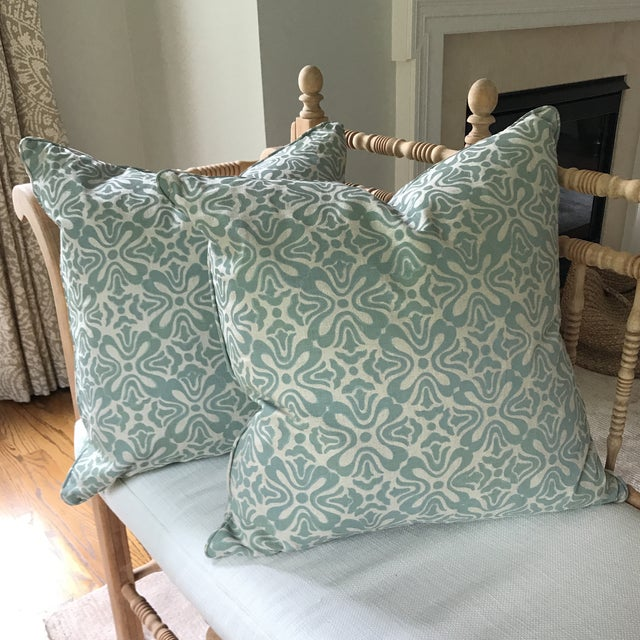 Galbraith & Paul Linen Pillows - A Pair For Sale In New York - Image 6 of 6