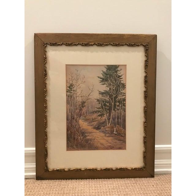Adirondack Original Vintage Landscape Painting Signed c.a. Howard For Sale - Image 3 of 5