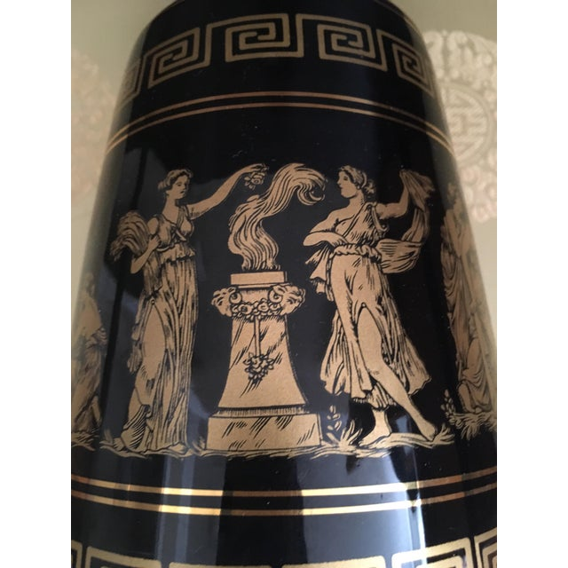 Vintage Greek Gods 24k Gold Vase For Sale - Image 11 of 11