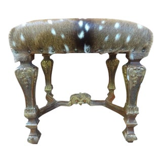 19th Century French Louis XIV Style Giltwood Bench For Sale