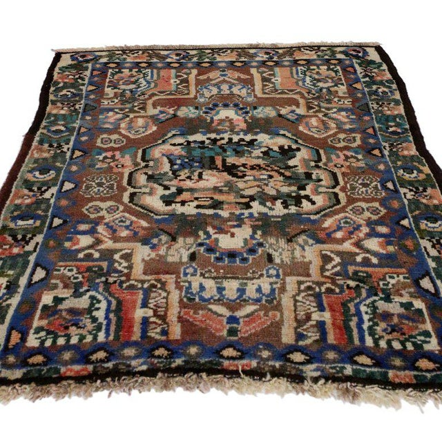 Contemporary 20th Century Persian Bakhtiari Accent Rug - 2′9″ × 3′2″ For Sale - Image 3 of 5