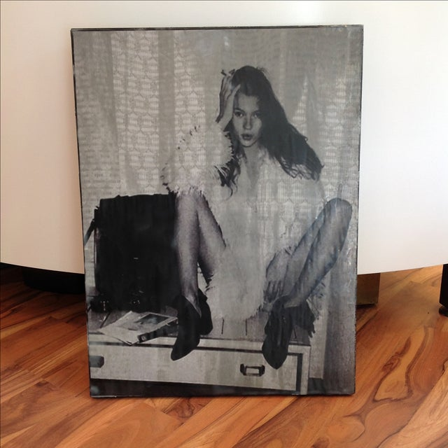 Kate Moss Encaustic Wax Photography - Image 2 of 5