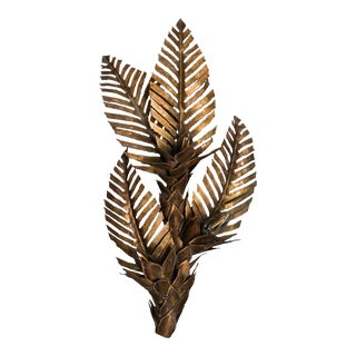 Maison Jansen Brass Palm Tree Sconce For Sale