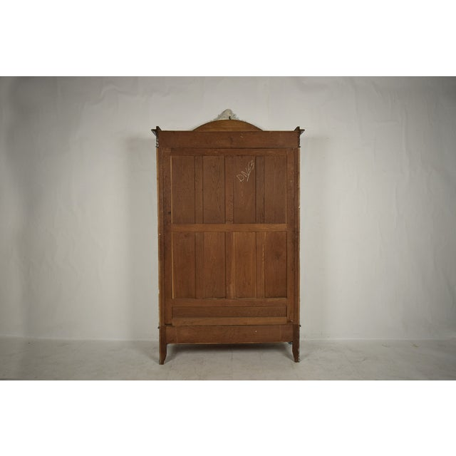 French Louis XVI Armoire-Style Bookcase - Image 10 of 10