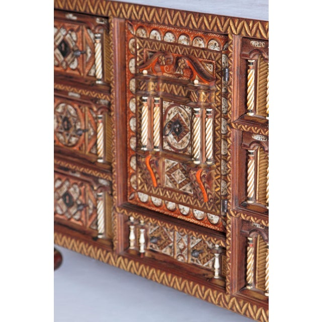 Mediterranean Spanish Bargueno / Portable Desk Cabinet For Sale - Image 3 of 13
