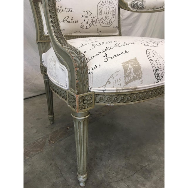 French Antique Painted Armchairs - a Pair For Sale In Austin - Image 6 of 13