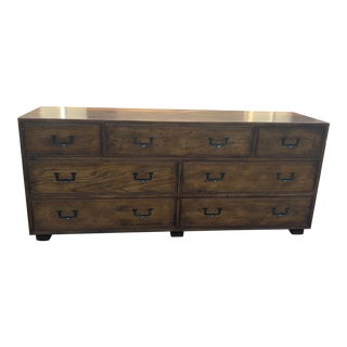 Vintage Henredon Artefacts Campaign Dresser For Sale