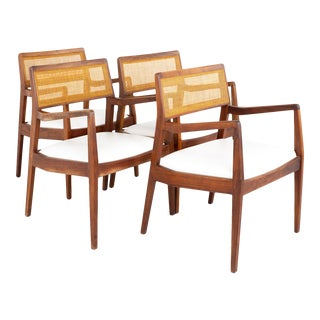 Jens Risom Mid Century Playboy Chairs - Set of 4 For Sale
