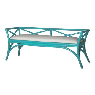 Charlotte Bench - Turquoise For Sale
