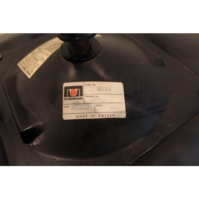 Overman Mid-Century Black Chrome Swivel Ottoman/Foot Stool For Sale - Image 11 of 11