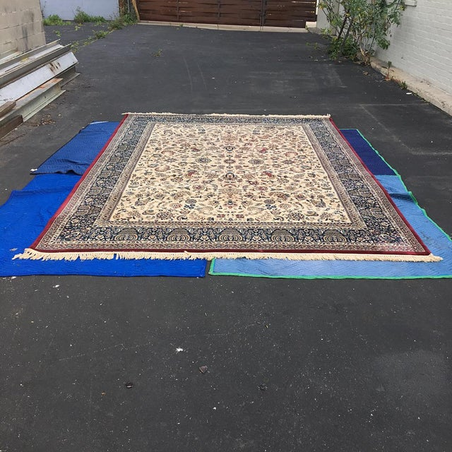 """Persian Floral Pattern Rug - 9'2"""" x 13'4"""" - Image 2 of 7"""