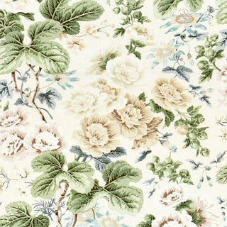 Scalamandre Highgrove Linen Print Fabric Sample For Sale