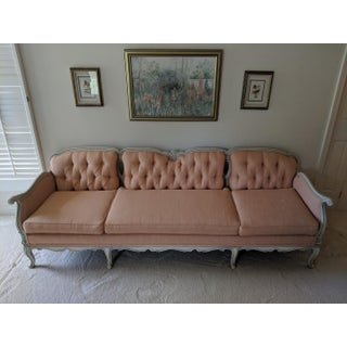 1960s Vintage French Provincial Peach Sofa Preview