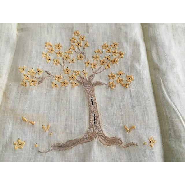 Vintage Embroidered Tree Tea Towel - Image 8 of 10