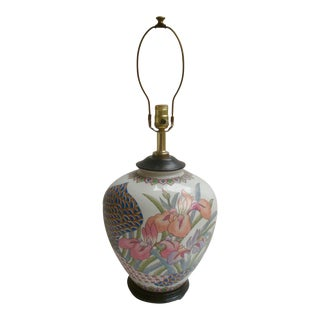 Asian Ginger Jar Lamp Abstract Postmodern Pastel Colors For Sale