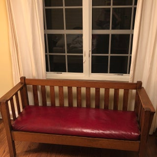 Late 19th Century Vintage Mission Style Bench Preview