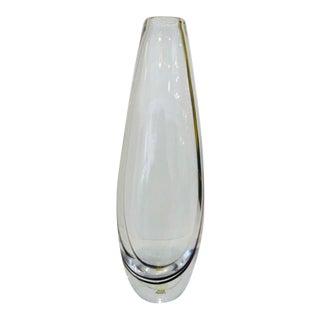 Vicke Lindstrand for Kosta Glass Vase For Sale
