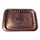 Image of Vintage Copper Serving Tray For Sale