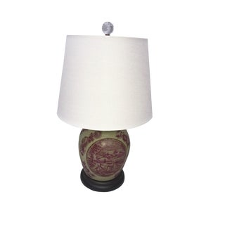 Chinese-Style Ceramic Table Lamp For Sale