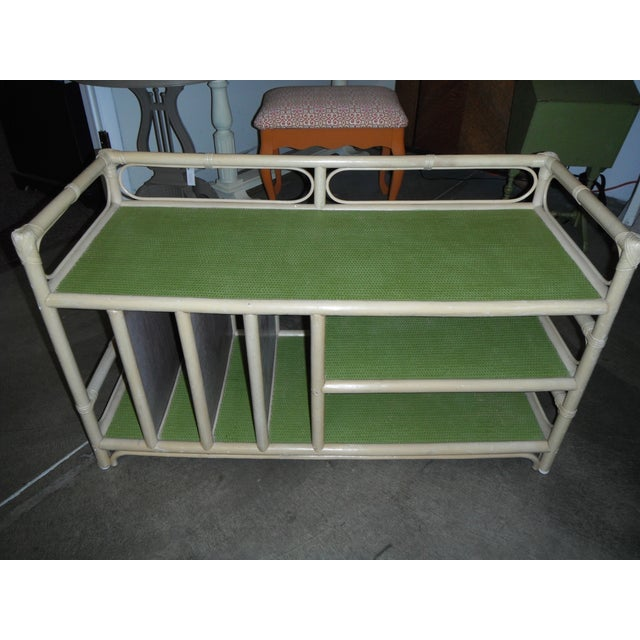 Rattan/Bamboo Vintage Storage Console - Image 2 of 7