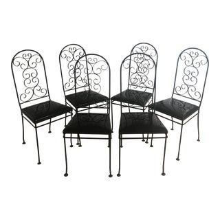 1950s Gallo Iron Works Wrought Iron Chairs - Set of 6