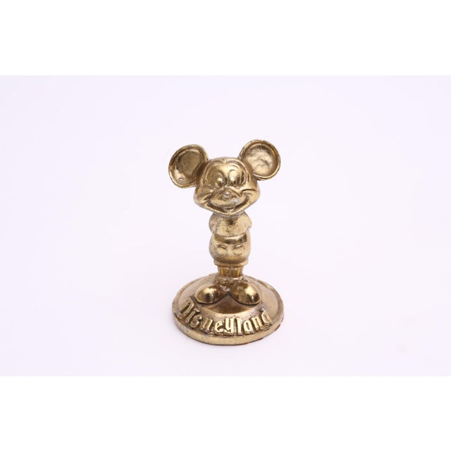 Brass Mickey Mouse Sculpture Disneyland in very good condition. Very heavy and cute.
