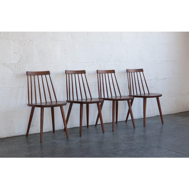 Yngve Ekström Swedish Spindleback Teak Dining Chairs - Set of 4 For Sale - Image 9 of 10