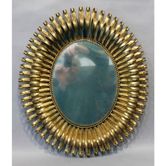 20th Century Italian Gilt Metal Mirror - Image 2 of 5