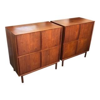 1950s Mid-Century Modern Hvidt & Mølgaard Teak Cabinets - a Pair For Sale
