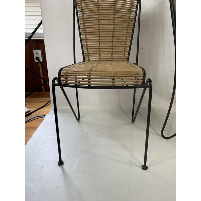 Mid-Century Modern Ficks & Reed Mid-Century Modern Bamboo & Rod Iron Dining Chairs - Set of 2 For Sale - Image 3 of 11