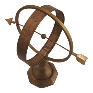 Armillary Sphere in Antique Brass, Great for a Desk or Display For Sale