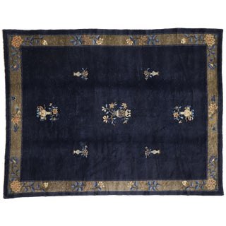 1910s Chinese Peking Rug - 9'00x11'07 For Sale