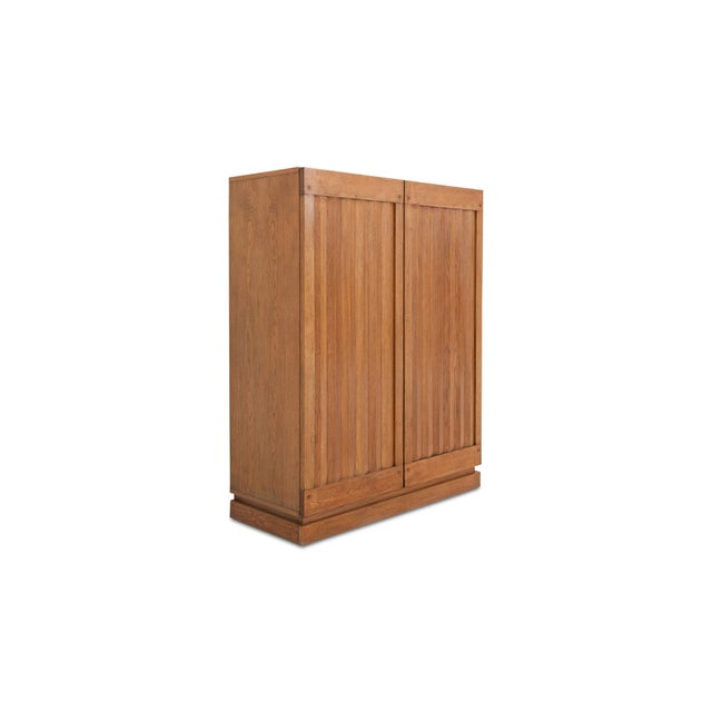 Minimalist Natural Oak Bar Cabinet For Sale - Image 4 of 12