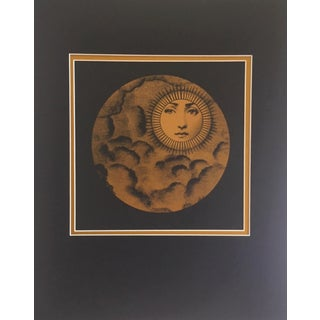 Vintage Fornasetti Moon and Clouds Print