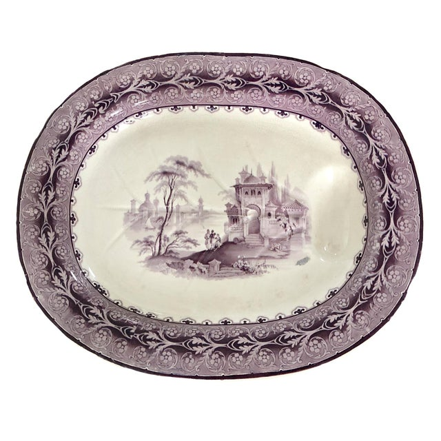 Mid 19th Century 19th C. English Large Well & Tree Staffordshire Platter For Sale - Image 5 of 5